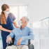 A doctor discusses medication management with a senior in a NY assisted living home.